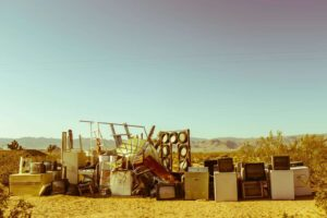 Home appliances in the middle of the desert during daytime -15 Profitable Things You Can Scrap Around the House